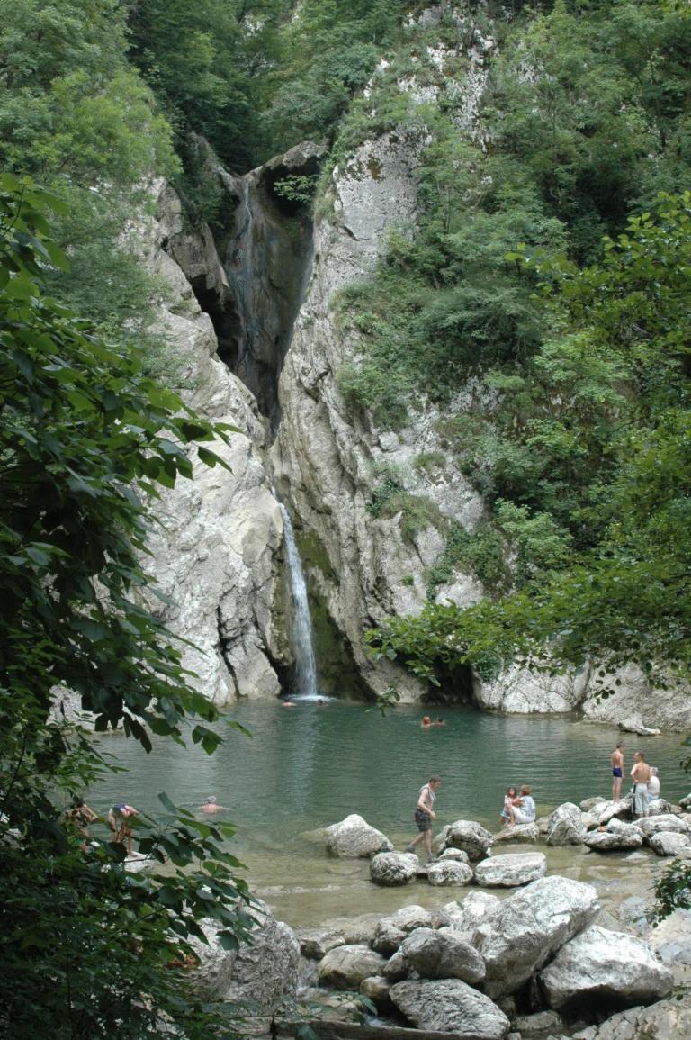 агурские водопад г сочи схема проезда