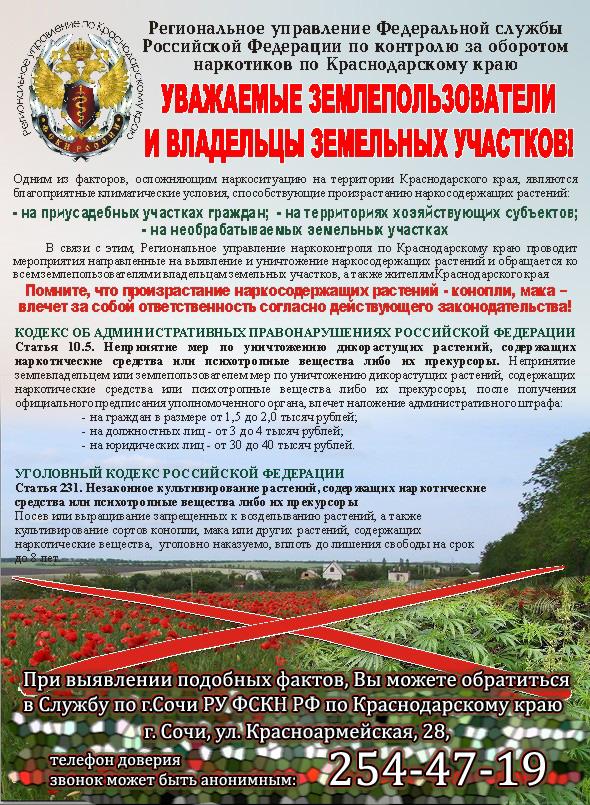 уголовная ответственность за выращивание мака